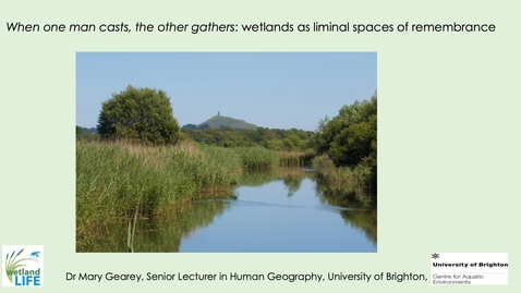 Thumbnail for entry S4 - #4 GEAREY_Unruly landscapes Wetlands as liminal spaces of rememberance