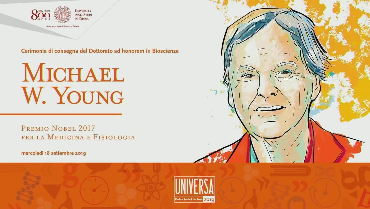 Dottorato ad honorem al Premio Nobel Michael W. Young