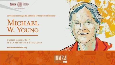 Thumbnail for entry Dottorato ad honorem al Premio Nobel Michael W. Young