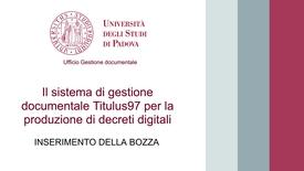 Thumbnail for entry Decreti digitali 2 - Inserimento bozza