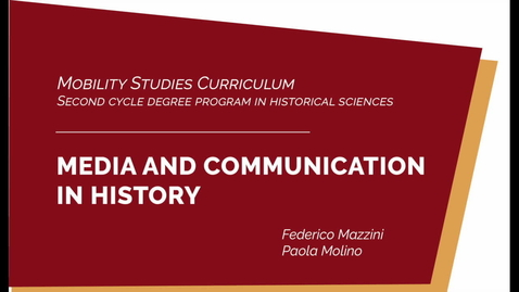 Thumbnail for entry #mobilitystudies - Media and Communication in History