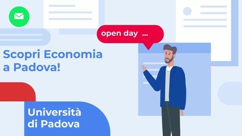 Thumbnail for entry Scopri il Corso di Laurea in Economia dell'Università di Padova