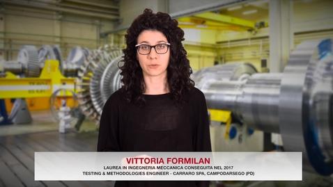 Thumbnail for entry Laurea in Ingegneria Meccanica - Testimonial Vittoria Formilan