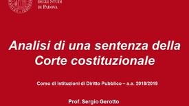 Thumbnail for entry Analisi di una sentenza della Corte costituzionale (12.12.2018)