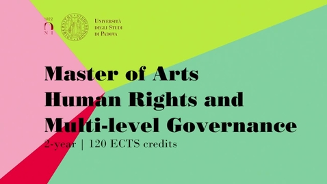 Thumbnail for entry MA in Human Rights and Multi level Governance: Francesca (Italy)