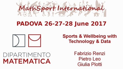 Thumbnail for entry MathSport International 2017: Sports & Wellbeing with Technology & Data