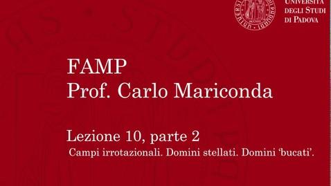 Thumbnail for entry FAMP - Lezione 10, parte 2