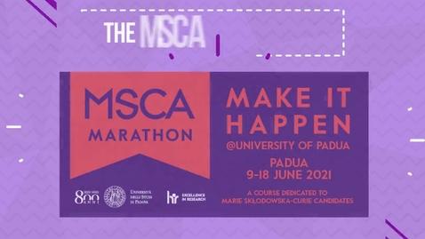 Thumbnail for entry MSCA Marathon@Unipd 2021