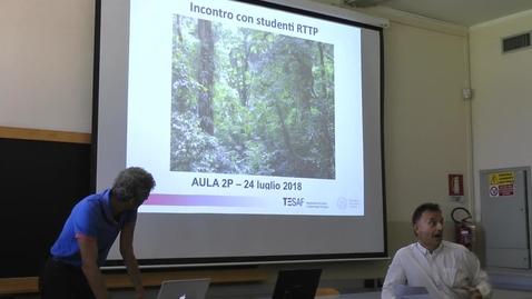 """Thumbnail for entry Percorso magistrale in """"Scienze Forestali e Ambientali"""" dell'Università di Padova: Prof. Tommaso Anfodillo"""