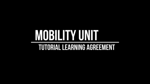 Thumbnail for entry Tutorial Learning Agreement_ITA