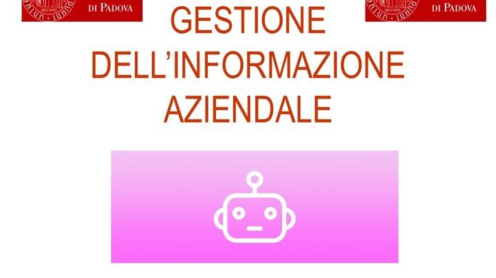 Thumbnail for channel GESTIONE DELL'INFORMAZIONE AZIENDALE