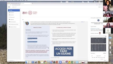 Thumbnail for entry Come creare e impostare un Quiz con il Moodle dedicato agli esami: incontro del  21 maggio