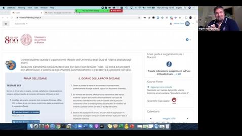 Thumbnail for entry Come creare e impostare un Quiz con il Moodle dedicato agli esami: incontro del  26 maggio