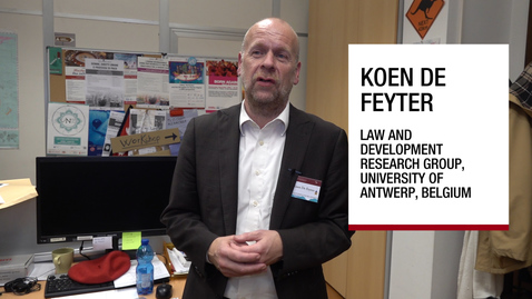 Thumbnail for entry Interview to Koen De Feyter, Padova, 26 November 2018