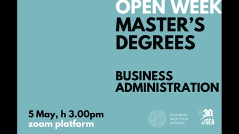 Thumbnail for entry Open Day Business Administration