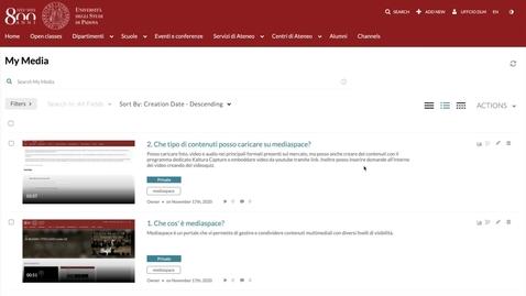 Thumbnail for entry 3. Livelli di visibilità di un contenuto multimediale
