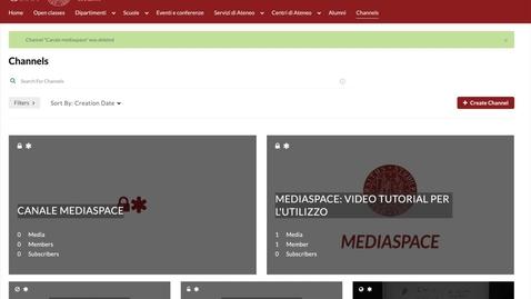 Thumbnail for entry 5. Pubblicare un contenuto in un canale