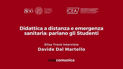Thumbnail for entry Iceacomunica intervista lo Studente Davide Dal Martello