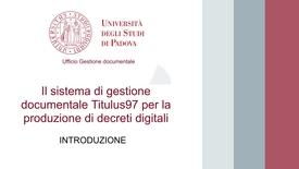 Thumbnail for entry Decreti digitali 1 - Introduzione
