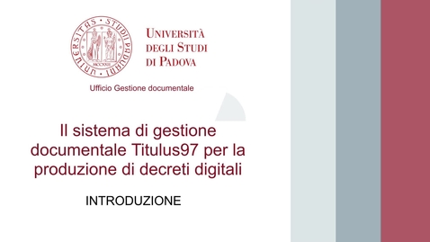 Thumbnail for entry Decreti digitali 1 - Introduzione
