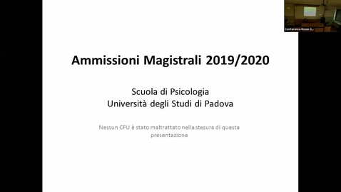 Thumbnail for entry Avviso ammissioni magistrali 2019-2020