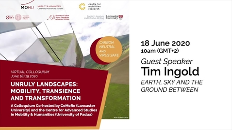"""Thumbnail for entry Opening Session - TIM INGOLD keynote lecture: """"Earth, Sky and the Ground between"""""""