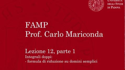 Thumbnail for entry FAMP - Lezione 12, parte 1