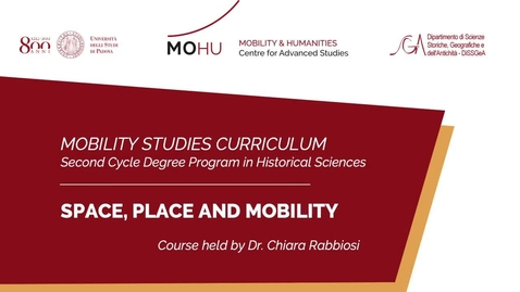 Thumbnail for entry #mobilitystudies - Space, Place and Mobility