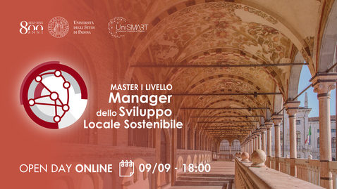Thumbnail for entry Open Day Master MSLS - Manager dello Sviluppo Locale Sostenibile - 09/09/20