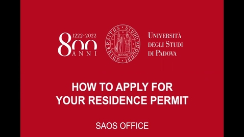 Thumbnail for entry How to apply for your residence permit