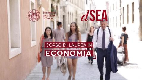 """Thumbnail for entry Presentazione Corso di Laurea Triennale in """"Economia"""""""