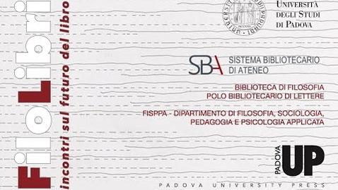 Thumbnail for entry FiloLibri - Il futuro del libro - saluti istituzionali