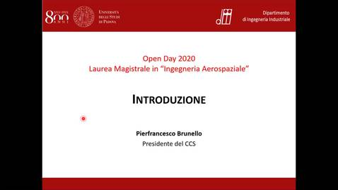 Thumbnail for entry Open Day Ingegneria Aerospaziale