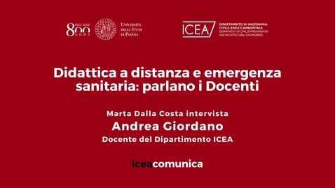 Thumbnail for entry Iceacomunica intervista il Professore Andrea Giordano