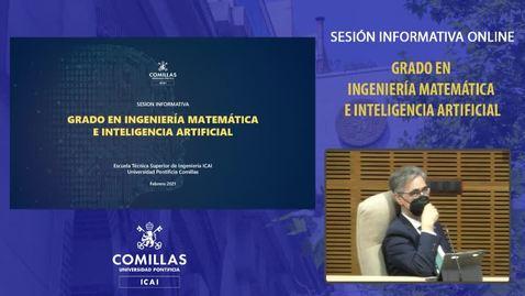 Miniatura para la entrada Sesión informativa online del Grado en Ingeniería Matemática e Inteligencia Artificial.  5/02/2021.