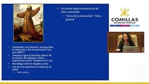 """Miniatura para la entrada Dª María del Mar Graña Cid. """"Francisco de Asís, El juglar de Dios.""""  Aula de Espiritualidad Pedro Fabro.  25/04/2019"""