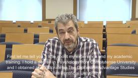 Miniatura para la entrada D. Alfonso Cuadros.  Asignatura: La aproximación psicosocial a las migraciones internacionales