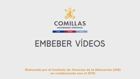 Miniatura para la entrada Embeber Vídeos