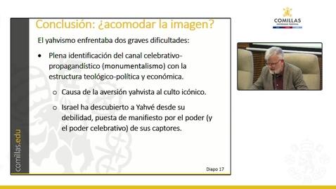 """Miniatura para la entrada D. Pedro Zamora García. """"Palabra e Imagen en la Escritura."""" Aula Alonso Schökel.  14/03/2019"""