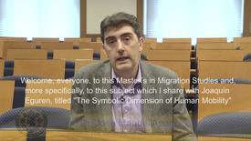 Miniatura para la entrada Dr. José Manuel Aparicio. Subject: The Symbolic Dimension of Human Mobility