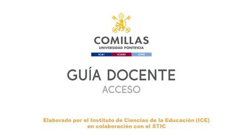 Miniatura para la entrada Guía docente P1 - Acceso
