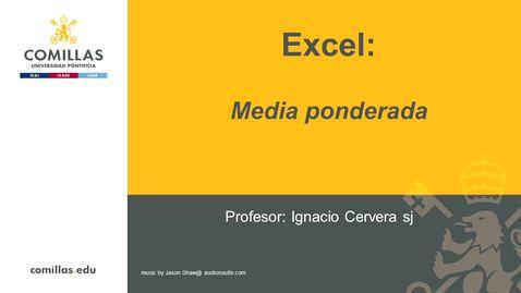 Miniatura para la entrada Excel-1-Media Ponderada