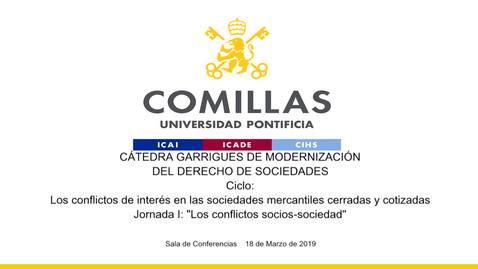 Miniatura para la entrada Cátedra Garrigues.  18/03/2019