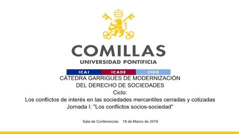 """Miniatura para la entrada """"Los conflictos de interés en las sociedades mercantiles cerradas y cotizadas. I"""""""