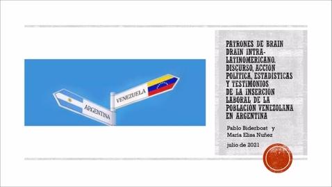 """Miniatura para la entrada  Presentación del Libro """"La inserción laboral de la migración venezolana en Latinoamérica""""   8/07/2021"""