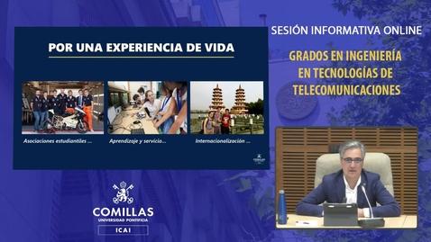 Miniatura para la entrada Sesión Informativa Online. Grados Ingeniería en Telecomunicaciones. 16/04/2021
