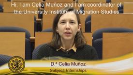 Miniatura para la entrada Dª. Celia Muñoz.  Subject: Internships. (Subtitulos Ingles)