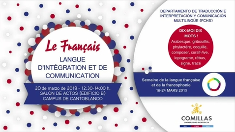 Miniatura para la entrada Le Français - Langue d´intégration et de communication