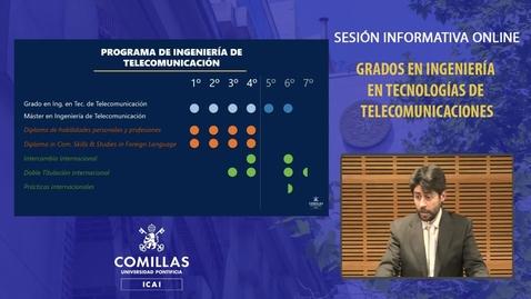 Miniatura para la entrada Sesión Informativa Online. Grados Ingeniería en Tecnologías de Telecomunicación.  12/02/2021