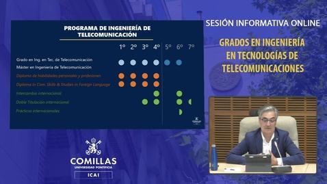 Miniatura para la entrada Sesión Informativa Online. Grados Ingeniería en Telecomunicaciones (16-04-2021)